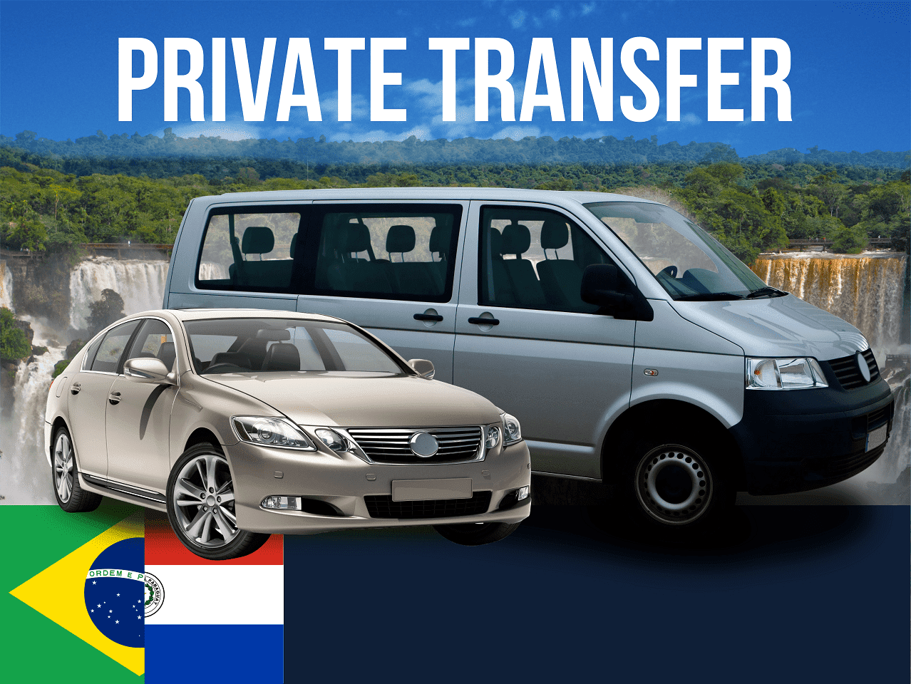 Private transfer from Brazil to Paraguay