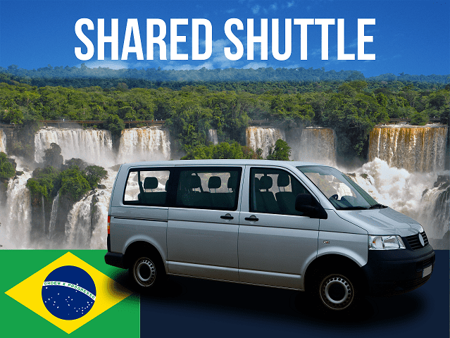 Shared Shuttle to Brazil side of Falls