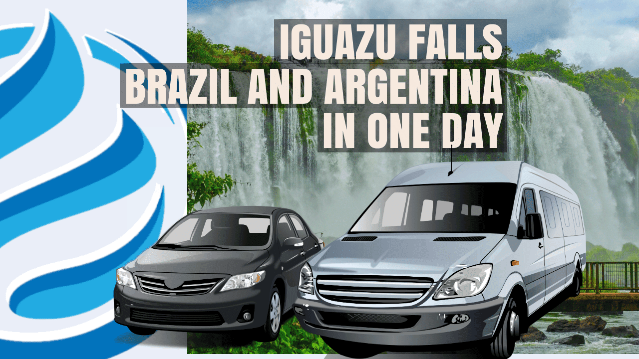Brazil and Argentina side of Iguazu falls in the same day