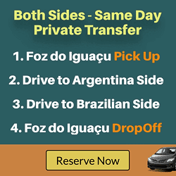 TRANSPORT FOR BOTH SIDES OF IGUAZU FALLS IN ONE DAY