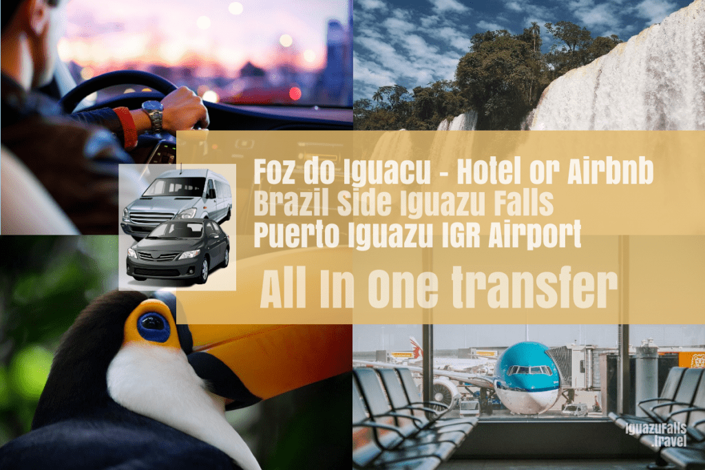 Foz do Iguacu to the ARgentine side of Iguazu falls and then IGR airport