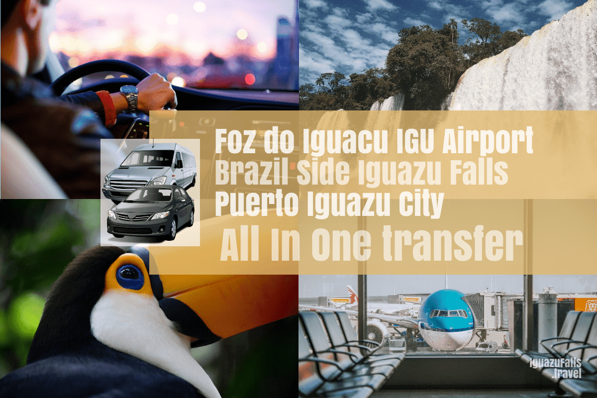 IGU airport to the Brazil side of the falls and then Puerto Iguazu Transfer