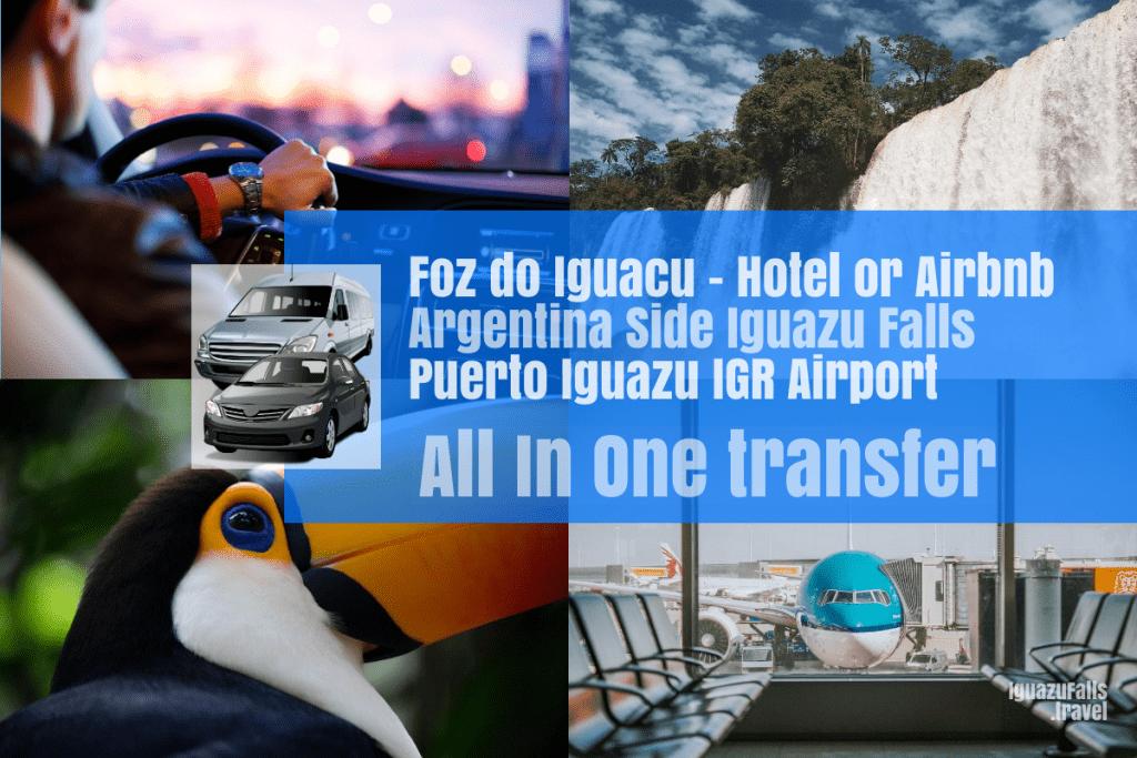 Foz do Iguacu to ARgentina side of Iguazu falls, then IGR airport