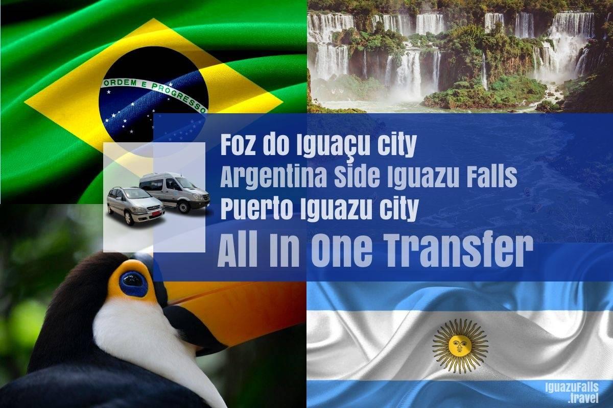 To Argentine side and Puerto Iguazu